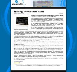 MusicRadar.com Synthogy Ivory II Grand Pianos