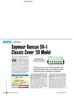 Soundcheck Minicheck: Seymour Duncan SH-1 Classic Cover '59 Model
