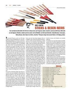 Sticks Vic Firth Sticks & Besen News 2010