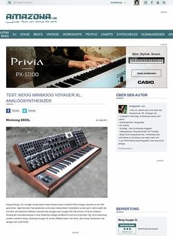 Amazona.de Test: Moog Voyager XL, Teilmodularer Analog Synthesizer