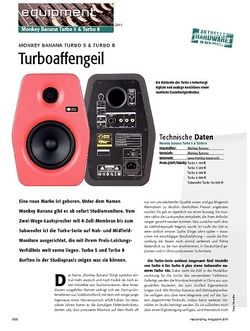 Recording Magazin Turboaffengeil - Monkey Banana Turbo 5 & Turbo 8