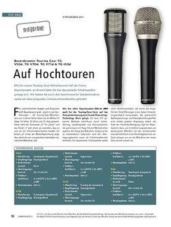 Soundcheck Test Mikrofone: Beyerdynamic Touring Gear TG V50d, TG V70d, TG V