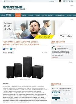 Amazona.de Test: Yamaha DSR112, DSR115, DSR215 Aktivlautsprecher und DSR118W Subwoofer
