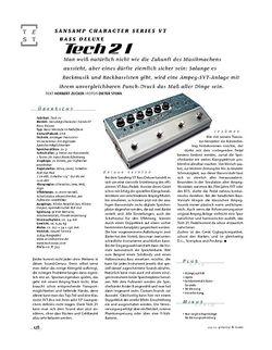 Gitarre & Bass Tech21 SansAmp Character Series VT Bass Deluxe, Bass-Preamp