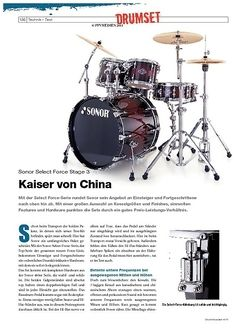 DrumHeads Instrumente & Technik - Test: Sonor Select Force Stage 3