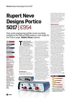 Future Music Rupert Neve Designs Portico 5017