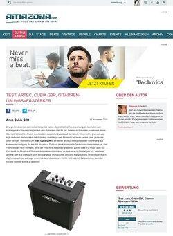 Amazona.de Test: Artec, Cubix G2R, Gitarren-Übungsverstärker