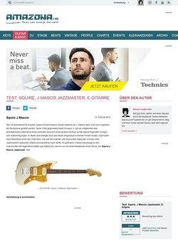 Amazona.de Test: Squire, J Mascis Jazzmaster, E-Gitarre