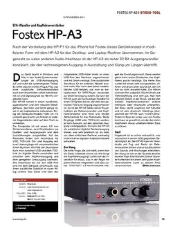 KEYS Fostex HP-A3