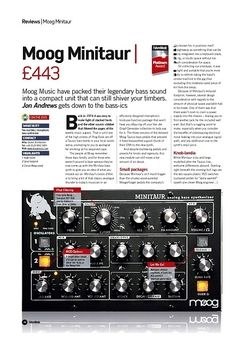 Future Music Moog Minitaur
