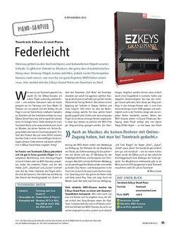 Soundcheck Test Piano-Sampler: Toontrack EZkeys Grand Piano