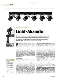 Tastenwelt Test: Eurolite LED-SCY Bar TCL - Licht-Akzente