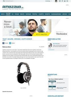 Amazona.de Test: Shure, SRH940, Kopfhörer