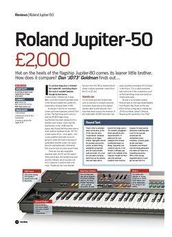 Future Music Roland Jupiter-50
