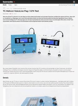 Bonedo.de TC Helicon VoiceLive Play und GTX