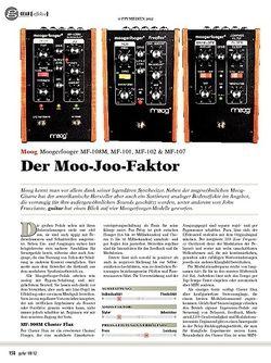 guitar gear Effekte - Moog Moogerfooger MF-108M, MF-101, MF-102 & MF-10