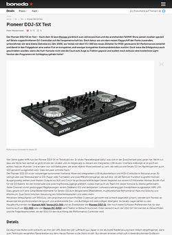 Bonedo.de Pioneer DDJ-SX Test