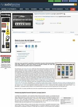 Audiofanzine.com Applied Acoustics Systems Lounge Lizard EP-4