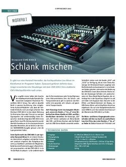 Soundcheck Test Mischpult: Dynacord CMS 600-3