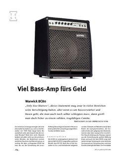 Gitarre & Bass Warwick BC 80, Bass-Combo