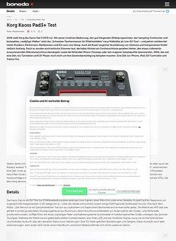 Bonedo.de Korg Kaoss Pad3+ Test