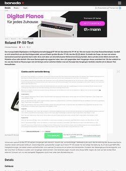 Bonedo.de Roland FP-50