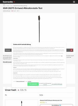 Bonedo.de K&M 26075 Einhand-Mikrofonstativ Test