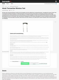 Bonedo.de Alesis Transactive Wireless Test