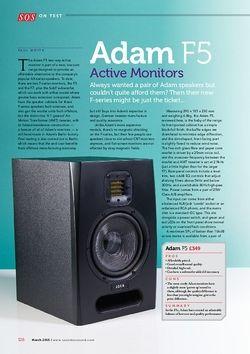 Sound on Sound Adam F5