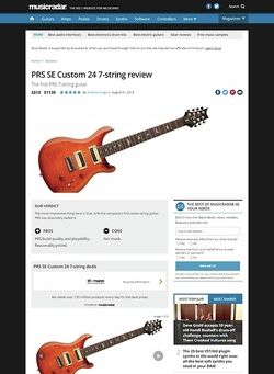 MusicRadar.com PRS SE Custom 24 7-string