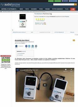 Audiofanzine.com TC Electronic PolyTune 2