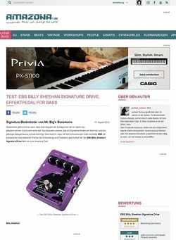 Amazona.de Test: EBS Billy Sheehan Signature Drive, Effektpedal für Bass
