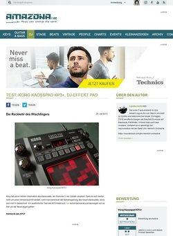 Amazona.de Test: Korg Kaosspad KP3+, DJ-Effekt Pad
