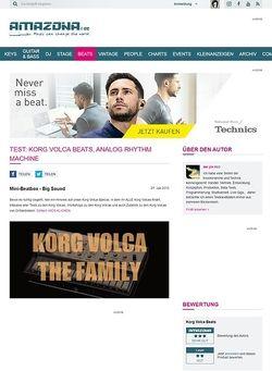 Amazona.de Test: Korg Volca Beats, Analog Rhythm Machine