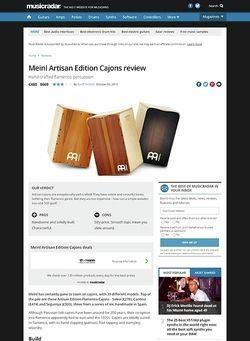 MusicRadar.com Meinl Artisan Edition Cajons
