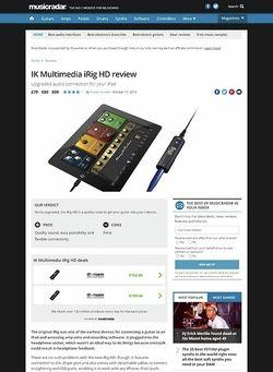 MusicRadar.com IK Multimedia iRig HD