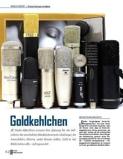 Professional Audio Studio-Gesangsmikrofone Vergleichstest