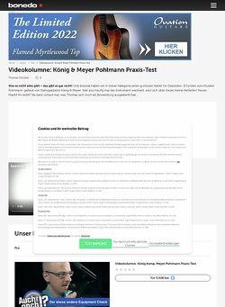 Bonedo.de Videokolumne: Pohlmann - Einfach schnell mal ablegen.