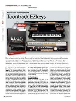KEYS Toontrack EZkeys