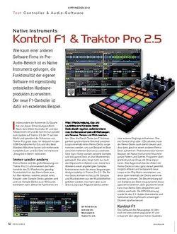 KEYS Native Instruments Kontrol F1 & Traktor Pro 2.5