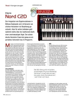 KEYS Clavia Nord C2D