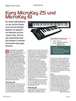 KEYS Korg MicroKey 25 und MicroKey 61