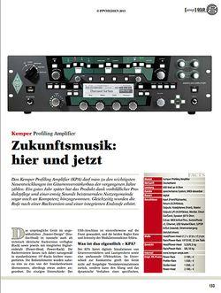 Guitar Kemper Profiling Amplifier