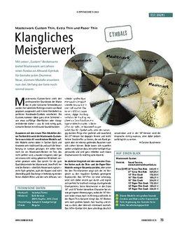 Soundcheck Test Drums: Masterwork Custom Thin, Extra Thin und Paper Thin