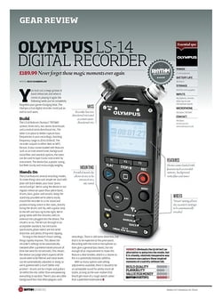 Rhythm Olympus LS-14 Digital Recorder
