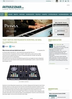 Amazona.de Test: Native Instruments Kontrol S2 MK2, DJ-Controller