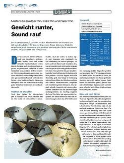 DrumHeads Masterwork Custom Thin, Extra Thin und Paper Thin