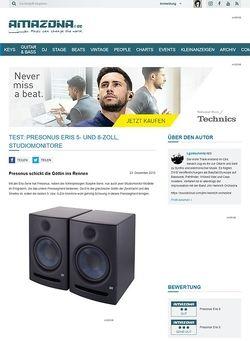 Amazona.de Test: Presonus Eris 5- und 8-Zoll, Studiomonitore