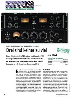 Recording Magazin Slate Digital Virtual Buss Compressors