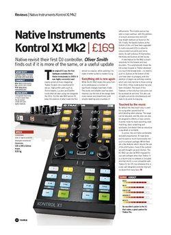 Future Music Native Instruments Kontrol X1 Mk2